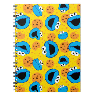 Cookie Monter and Cookies Pattern Spiral Notebook