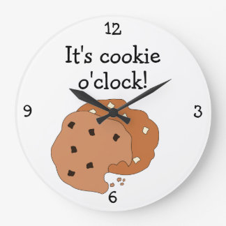 Cookie O'Clock fun food graphic Large Clock