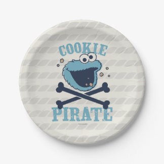 Cookie Pirate 7 Inch Paper Plate