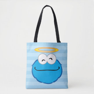 Cookie Smiling Face with Halo Tote Bag