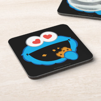 Cookie Smiling Face with Heart-Shaped Eyes Beverage Coaster