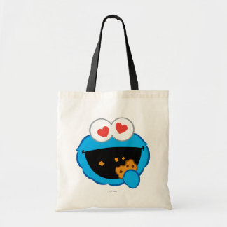 Cookie Smiling Face with Heart-Shaped Eyes Budget Tote Bag