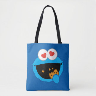 Cookie Smiling Face with Heart-Shaped Eyes Tote Bag