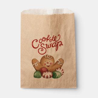 Cookie Swap Gingerbread Man Favor Bag 2 Favour Bags