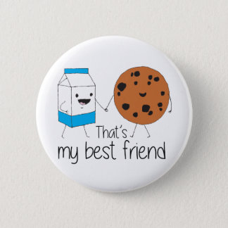 Cookies and Milk - Best Friends 6 Cm Round Badge