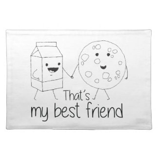 Cookies and Milk - Best Friends Placemat