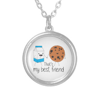 Cookies and Milk - Best Friends Silver Plated Necklace