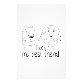 Cookies and Milk - Best Friends Stationery