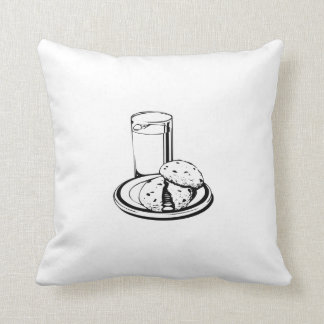 Cookies and Milk Throw Pillows