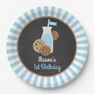 Cookies and Milk Paper Plate