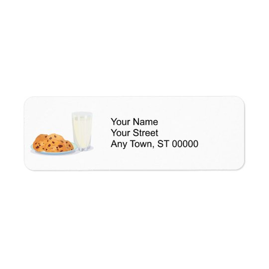 cookies and milk return address label