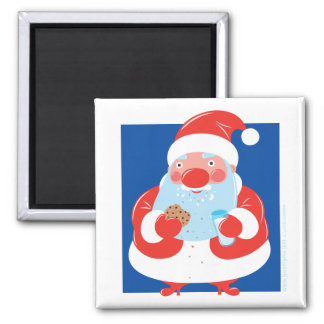 Cookies and Milk Square Magnet