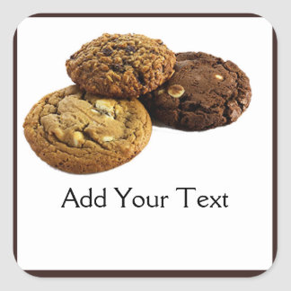 Cookies and Other Delicious Desserts on White Square Sticker