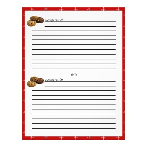 Cookies and Other Desserts Recipe Cards Personalized Flyer