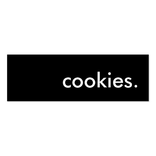 cookies. business cards