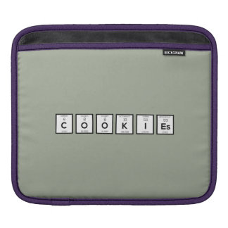 Cookies Chemical element Z57c7 iPad Sleeve
