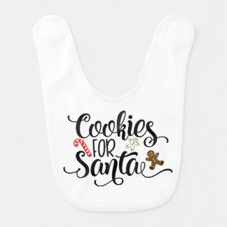 Cookies for Santa Baby Bib