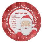 Cookies for Santa. Custom Names Christmas Plates