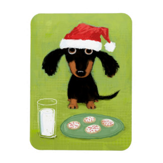Cookies for Santa Dachshund Magnet
