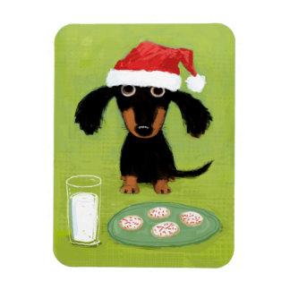 Cookies for Santa Dachshund Rectangular Photo Magnet