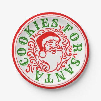 Cookies for Santa Paper Plates
