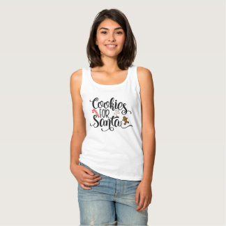Cookies for Santa Whimsical Typography | Tank Top