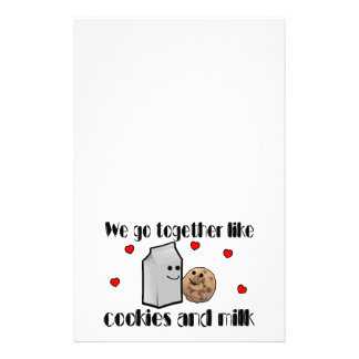 Cookies & Milk Love Stationery