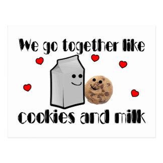 Cookies & Milk Postcard