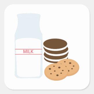 Cookies Milk Square Sticker