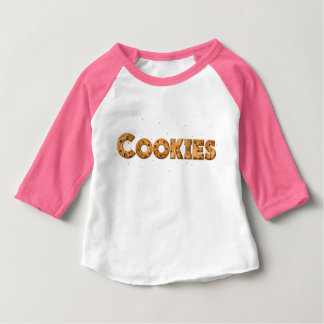 Cookies Text Baby T-Shirt