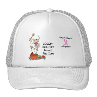 COOKIN' COOK OFF toward The Cure Trucker Hat