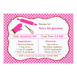 Cooking Birthday Party Invitation 13 Cm X 18 Cm Invitation Card