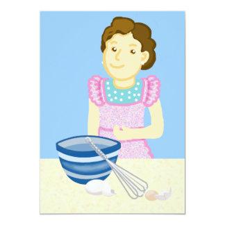 Cooking class 13 cm x 18 cm invitation card