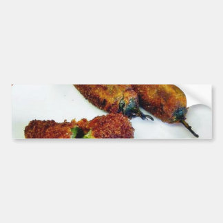 Cooking Food Stuffed Jalapenos Peppers Bumper Sticker