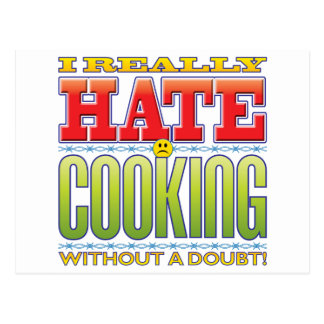 Cooking Hate Face Postcard