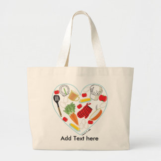 Cooking Heart Tote Bag