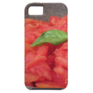 Cooking homemade tomato sauce using fresh summer t iPhone 5 case