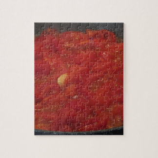 Cooking homemade tomato sauce using fresh tomatoes jigsaw puzzle