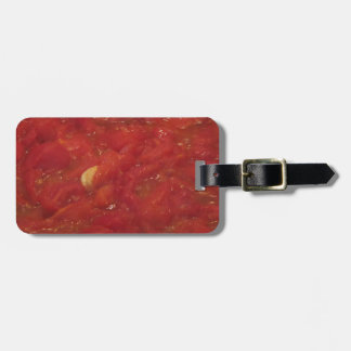 Cooking homemade tomato sauce using fresh tomatoes luggage tag