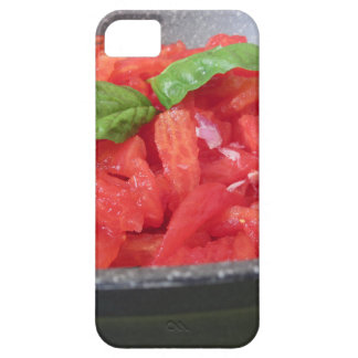 Cooking homemade tomato sauce using tomatoes iPhone 5 case