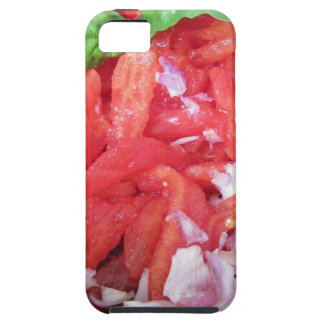 Cooking homemade tomato sauce using tomatoes iPhone 5 cover