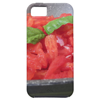 Cooking homemade tomato sauce using tomatoes tough iPhone 5 case