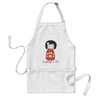 """Cooking is Zen"" Kokeshi Doll Apron"