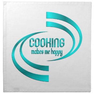 Cooking Makes Me Happy Napkin