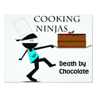 Cooking Ninjas 11 Cm X 14 Cm Invitation Card