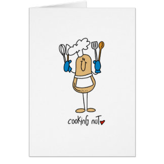 Cooking Nut T-shirts and Gifts Greeting Card