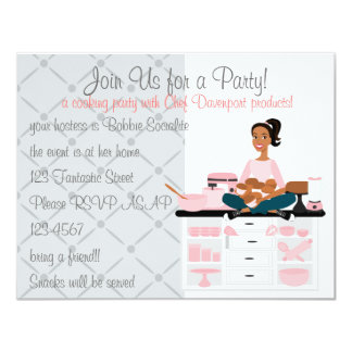 Cooking Party Card