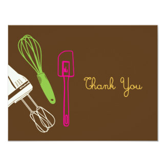 Cooking Party Thank You Card 11 Cm X 14 Cm Invitation Card