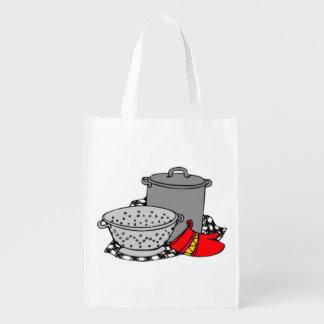 Cooking Pot and Strainer Reuseable Grocery Bag