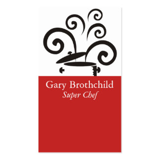 Cooking pot big curly steam chef catering busin... pack of standard business cards